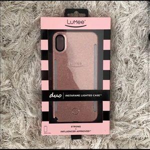 Lumee Duo Instafame Lighted Case iPhone XS Max NIB